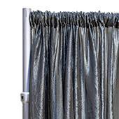 "*FR* Crushed Taffeta Drape Panel by Eastern Mills 9 1/2 FT Wide w/ 4"" Sewn Rod Pocket - Charcoal"