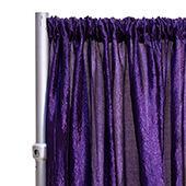 "*FR* Crushed Taffeta Drape Panel by Eastern Mills 9 1/2 FT Wide w/ 4"" Sewn Rod Pocket - Dark Purple"
