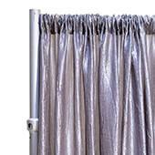 "*FR* Crushed Taffeta Drape Panel by Eastern Mills 9 1/2 FT Wide w/ 4"" Sewn Rod Pocket - Light Silver"