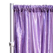 "*FR* Crushed Taffeta Drape Panel by Eastern Mills 9 1/2 FT Wide w/ 4"" Sewn Rod Pocket - Lilac"