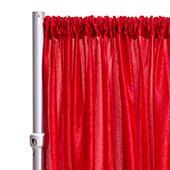 "*FR* Crushed Taffeta Drape Panel by Eastern Mills 9 1/2 FT Wide w/ 4"" Sewn Rod Pocket - Red"