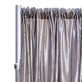 "*FR* Crushed Taffeta Drape Panel by Eastern Mills 9 1/2 FT Wide w/ 4"" Sewn Rod Pocket - Silver"