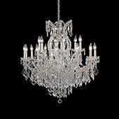 "Large Luxe 15-Arm Empress Crystal Chandelier - 38"" H x 37"" D"