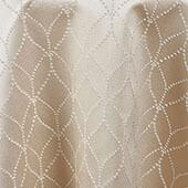"""Champagne Diamante Curtain Panel w/ 4"""" Rod Pocket - 114"""" Wide - Many Size Options"""