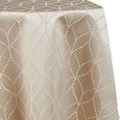Diamante Tablecloth by Eastern Mills - Champagne - Many Size Options