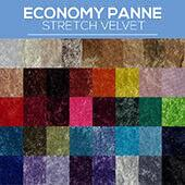 "Fire Retardant Economy Panne Stretch Velvet - 100% Polyester - By The Yard - 60"" Width"
