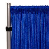 Fire Retardant Economy Panne Stretch Velvet Drape w/ Sewn Rod Pocket - Royal