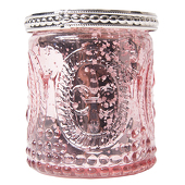 DecoStar™ Glass Candle Holder w/ Metal Trim- 2.7