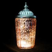 DecoStar™ Pixie Jar™ Pink Mercury Glass Mini Lantern - Internally Illuminated - 5.5