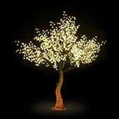 Lighted Cherry Blossom LED Tree - AC Adapter - 1200 LEDs - Warm White - 9FT Tall