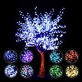 Lighted Cherry Blossom LED Tree - AC Adapter - 1000 LEDs - RGBW w/ Remote & Many Functions! - 8FT Tall