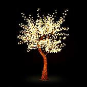 Lighted Cherry Blossom LED Tree - AC Adapter - 960 LEDs - Warm White- 8FT Tall