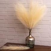 "Faux Pampas Grass - 6 Stems - 38"" Long - Sand"