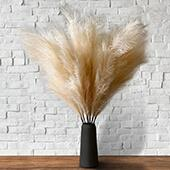 Faux Pampas Grass - 6 Stems - 48