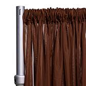 """10ft Wide Sheer Voile Curtain Panel w/ 4"""" Pockets by Eastern Mills - Brown"""