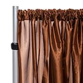 "*FR* Taffeta Drape Panel by Eastern Mills 9 1/2 FT Wide w/ 4"" Sewn Rod Pocket - Brown"