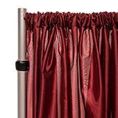 "*FR* Taffeta Drape Panel by Eastern Mills 9 1/2 FT Wide w/ 4"" Sewn Rod Pocket - Burgundy"