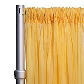 """10ft Wide Sheer Voile Curtain Panel w/ 4"""" Pockets by Eastern Mills - Butter Yellow"""