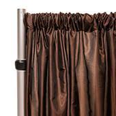 "*FR* Taffeta Drape Panel by Eastern Mills 9 1/2 FT Wide w/ 4"" Sewn Rod Pocket - Chocolate Brown"
