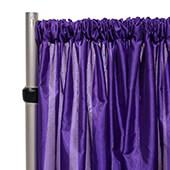 "*FR* Taffeta Drape Panel by Eastern Mills 9 1/2 FT Wide w/ 4"" Sewn Rod Pocket - Dark Purple"