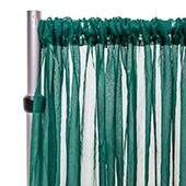 """*FR* 10ft Wide Sheer Voile Curtain Panel by Eastern Mills w/ 4"""" Pockets - Emerald"""