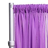 """*FR* Crushed Sheer Voile Curtain Panel by Eastern Mills w/ 4"""" Pockets - 10ft Wide - Lavender"""