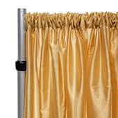 "*FR* Taffeta Drape Panel by Eastern Mills 9 1/2 FT Wide w/ 4"" Sewn Rod Pocket - Light Gold"