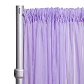 """*FR* Crushed Sheer Voile Curtain Panel by Eastern Mills w/ 4"""" Pockets - 10ft Wide - Lilac"""