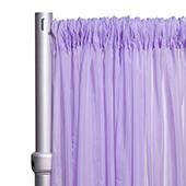 """10ft Wide Sheer Voile Curtain Panel w/ 4"""" Pockets by Eastern Mills - Lilac"""