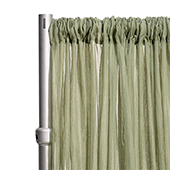 """*FR* 10ft Wide Sheer Voile Curtain Panel by Eastern Mills w/ 4"""" Pockets - Moss"""