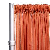"""*FR* 10ft Wide Sheer Voile Curtain Panel by Eastern Mills w/ 4"""" Pockets - Rust"""