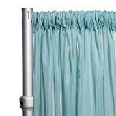 """10ft Wide Sheer Voile Curtain Panel w/ 4"""" Pockets by Eastern Mills - Seafoam Green"""