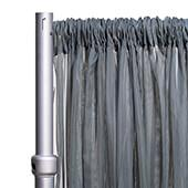"""*FR* 10ft Wide Sheer Voile Curtain Panel by Eastern Mills w/ 4"""" Pockets - Silver"""