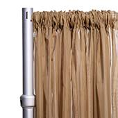 """10ft Wide Sheer Voile Curtain Panel w/ 4"""" Pockets by Eastern Mills - Taupe"""