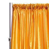 "*FR* Taffeta Drape Panel by Eastern Mills 9 1/2 FT Wide w/ 4"" Sewn Rod Pocket - Dark Gold"