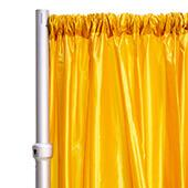 "*FR* Taffeta Drape Panel by Eastern Mills 9 1/2 FT Wide w/ 4"" Sewn Rod Pocket - Gold"