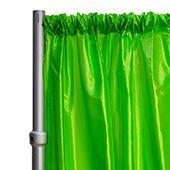 "*FR* Taffeta Drape Panel by Eastern Mills 9 1/2 FT Wide w/ 4"" Sewn Rod Pocket - Lime"