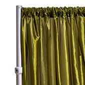 "*FR* Taffeta Drape Panel by Eastern Mills 9 1/2 FT Wide w/ 4"" Sewn Rod Pocket - Olive"