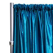 "*FR* Taffeta Drape Panel by Eastern Mills 9 1/2 FT Wide w/ 4"" Sewn Rod Pocket - Teal"