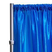 "*FR* Taffeta Drape Panel by Eastern Mills 9 1/2 FT Wide w/ 4"" Sewn Rod Pocket - Turquoise"