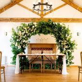 Green Round Eucalyptus Leaf Wedding Ceremony Arch - 8 Feet Tall