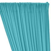 ITY Stretch Drape w/ Sewn Rod Pocket - Aqua Splash