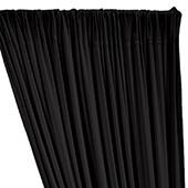 ITY Stretch Drape w/ Sewn Rod Pocket - Black