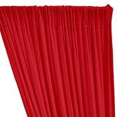 ITY Stretch Drape w/ Sewn Rod Pocket - Bright Red