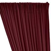 ITY Stretch Drape w/ Sewn Rod Pocket - Burgundy