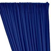 ITY Stretch Drape w/ Sewn Rod Pocket - Cobalt