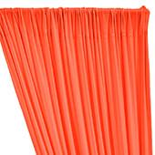 ITY Stretch Drape w/ Sewn Rod Pocket - Neon Coral