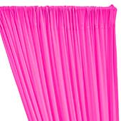 ITY Stretch Drape w/ Sewn Rod Pocket - Neon Pink