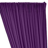 ITY Stretch Drape w/ Sewn Rod Pocket - Purple / Morado