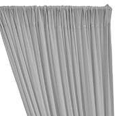 ITY Stretch Drape w/ Sewn Rod Pocket - Silver